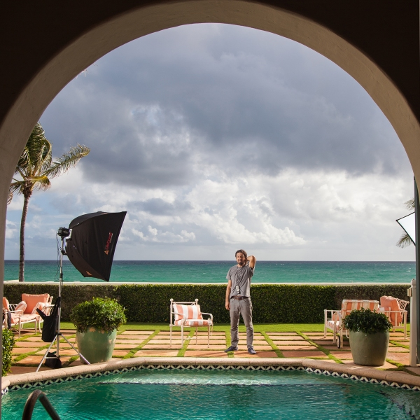 behind the scenes portrait of photo assistant palm beach florida