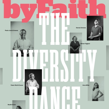 byFaith magazine cover, portraits by Sonya Revell