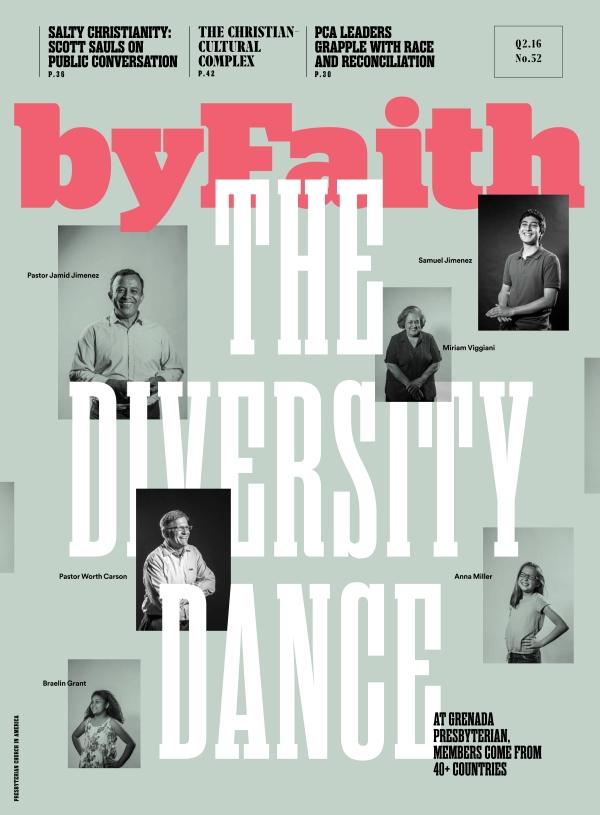 byFaith magazine cover, portraits by Sonya Revell