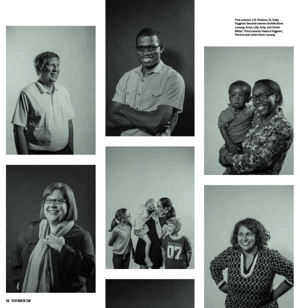 black-and-white portraits of Granada's diverse congregation,