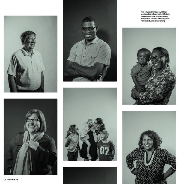 black-and-white portraits of Granada's diverse congregation,
