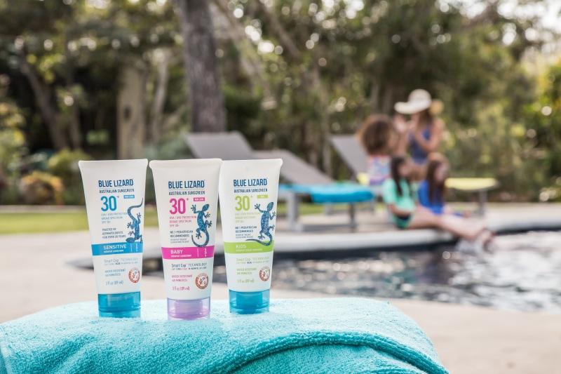 photo of Blue Lizard Sunscreen poolside