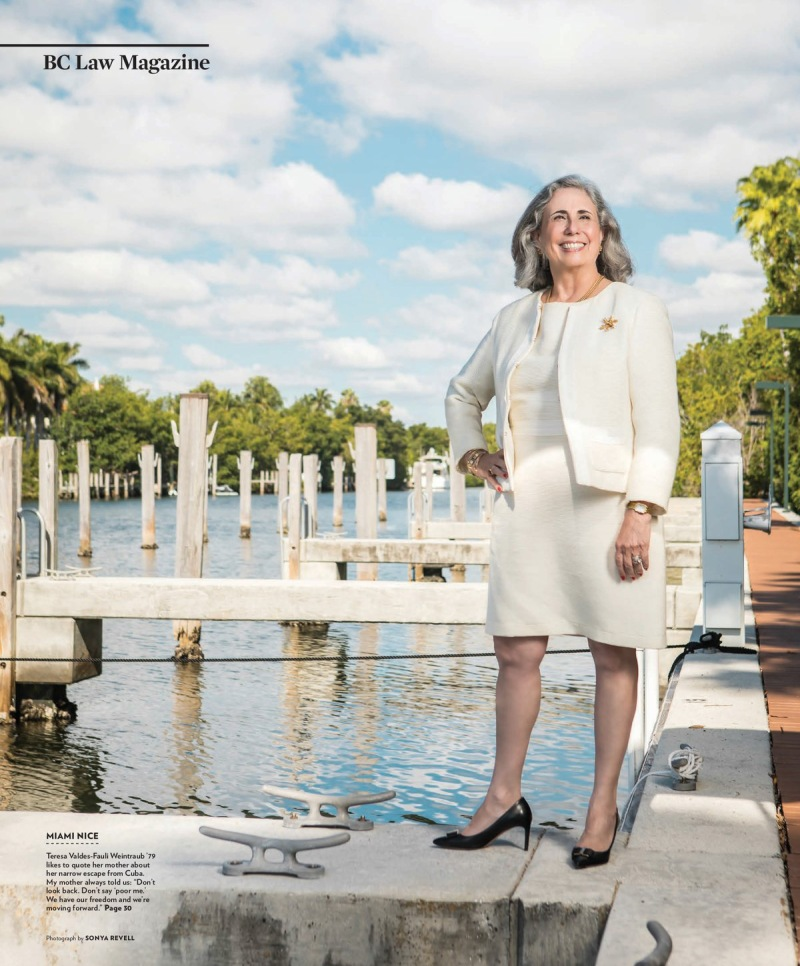portrait photography of Teresa Weintraub standing on a dock