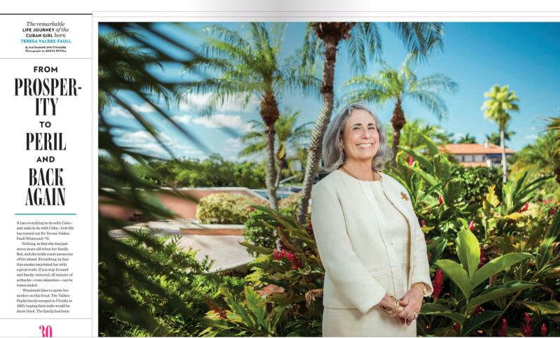 portrait of Teresa Weintraub appearing in Boston College Law Magazine